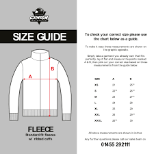 Clinton Enterprises Size Guide Information