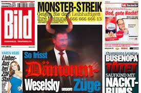 Mai 2008 ist er bundesvorsitzender der gewerkschaft deutscher lokomotivführer (gdl). Der Postillon Bild Zeitung Entlarvt Gdl Chef Claus Weselsky Als Damon Aus Der Niederholle