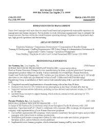 resume for hr position