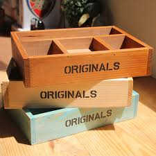 Decorative Display Boxes Vintage Retro Storage Boxes Handmade Wooden Box Plant Tray 23