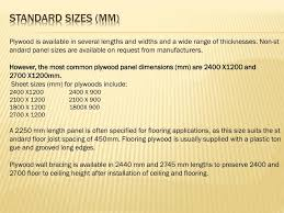plywood sheet dimensions ppt plywood powerpoint presentation id 2256178