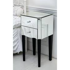 glass bedside table double drawer mirrored side table with contrasting black legs double drawer mirrored side glass bedside table