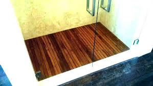 teak shower floor mat large st