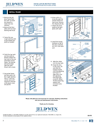 installation instructions install frame jeld wen jii102 wood pocket door frames user manual page 2 2