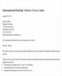 6 Sample Academic Advisor Cover Letters Sample Templates