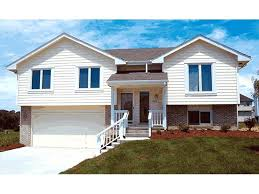 raised house plans. Drive Under Garage House Plans Split Level Home Has Raised Entry And Narrow Lot E