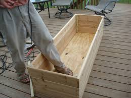 diy wood deck box. vegetable garden on the deck you bet my northern diy wood box