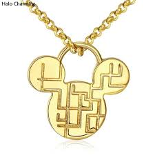 best quality gold plated fashion jewelry cartoon pendants necklace charm 45 5cm