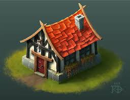 Cute little isometric fantasy house by RGBfumes ...
