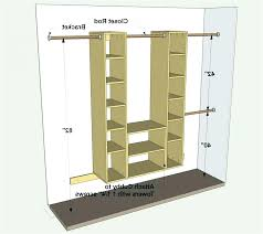 double clothes rod height closet height standard