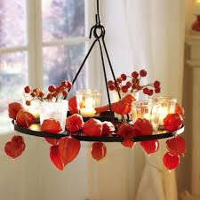 cool orange fall thanksgiving decorating ideas with chinese lanterns