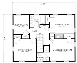 Fine Simple Floor Plan Of A House L Shaped Two Bedroom Intended Models Ideas