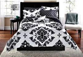 black white damask bedding sets