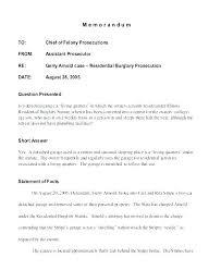 Sample Internal Memo Format Standard Memorandum Format Memo Example