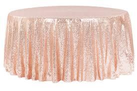 glitz sequins 120 round tablecloth blush rose gold