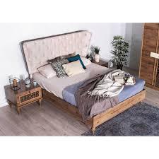 Schlafzimmer Alberta 6 Teilig Nussbaum Creme Bett 180x200cm 249990