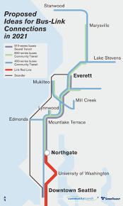 Lynnwood Light Rail Snohomish County Buses May Meet Light Rail At Northgate In 2021
