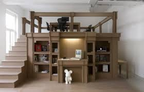 cheap office spaces. Interior Design Office Space With Cardboard Tables, Chairs, Stairs Cheap Spaces E