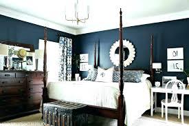 navy blue master bedroom wall decor