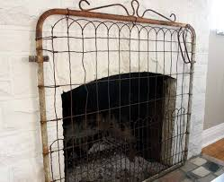 this fireplace screen is purely decorative