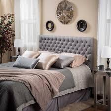 dark grey headboard bedroom ideas gray queen double fabric in decor 2048 2048