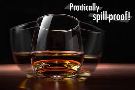 fun to fidget with won t spill the wobbling whiskey glass