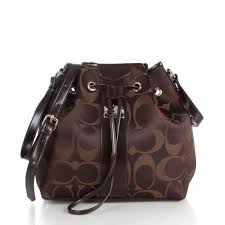 Coach Outlet Drawstring Medium Coffee Shoulder Bags