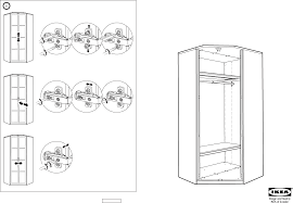 Ikea Instruction Manuals Ikea Accessories Hopen Corner Section Frame Pdf Assembly