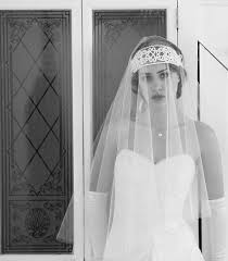 art nouveau wedding dress. art nouveau 1920s 1910s bridal headpiece, headdress, flapper tiara in ivory cream, birdcage veil.downton abbey,the great gatsby wedding dress