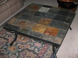 Furniture, Black Square Unique Tile Top Coffee Table Ideas For Living Room  Arrangement Ideas: