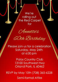 Red Carpet Invitation Adult Red Carpet Birthday Invite Party