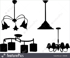 house living chandelier silhouette vector ilration