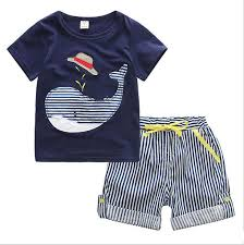 2019 <b>2017 New Summer Boy</b> INS Whale Hat Stripe Suit Children ...