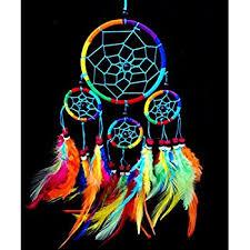 Colored Dream Catchers Inspiration Amazon Handmade Beaded Rainbow Colorful Dream Catchers Hanging