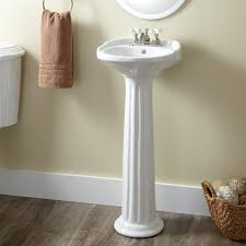 victorian ultra petite porcelain pedestal sinkadd a victorian influence to your bath with this charming pedestal sink perfect for smaller spaces