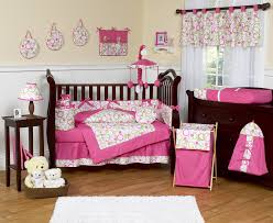 bedroom baby nursery lovely pink crib bedding and black girl in