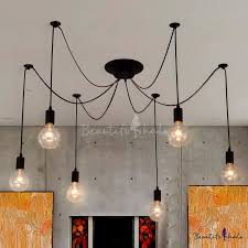 beautiful multi light ceiling fixtures edison bulb black multi light pendant beautifulhalo