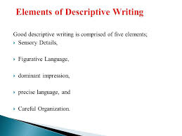 descriptive writing ppt video online elements of descriptive writing