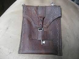 brown leather vintage hip bag purse