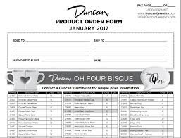 Product Order Form Duncan Customer Products Order Form 1