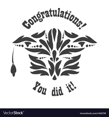 congratulations to graduate greeting card with congratulations graduate vector image