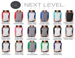 Next Level Raglan Shirt Size Chart Just Do 9 Wicked Ts