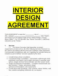interior design contract template lovely interior design agreement template sle letters for free