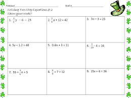 solve one step equations with smaller values a math worksheet