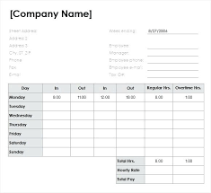 Payroll Time Sheets Free Hourly And Weekly Template Excel Free Download Timesheets