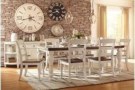 farmhouse table two tone marsilona dining room table view 1 ashley furniture
