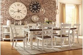 farmhouse table two tone marsilona dining room table view 1 ashley furniture