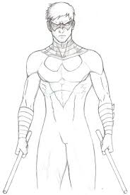 Nightwing Coloring Pages Free Coloring Library