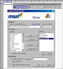 Msn Stock Quotes Magnificent Update Stock Quotes Instantly In Excel ExcelSkillsSocietyorg
