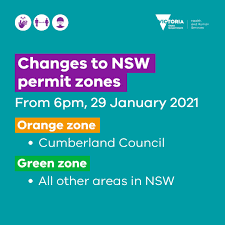 To be eligible for an orange zone permit you must not have been in any other currently listed red zone in the past 14 days and agree to. Vicgovdh On Twitter Update For People Travelling From Nsw Following Continued Low Community Transmission And Exposure Risk From 6pm Tonight The Last Red Zone In New South Wales Will Transition To An